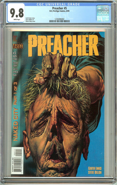 Preacher #5 (1995) CGC 9.8 White Pages 1230406002