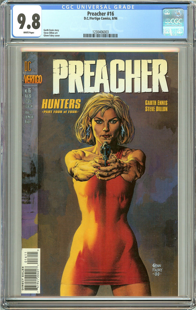 Preacher #16 (1996) CGC 9.8 White Pages 1230406003