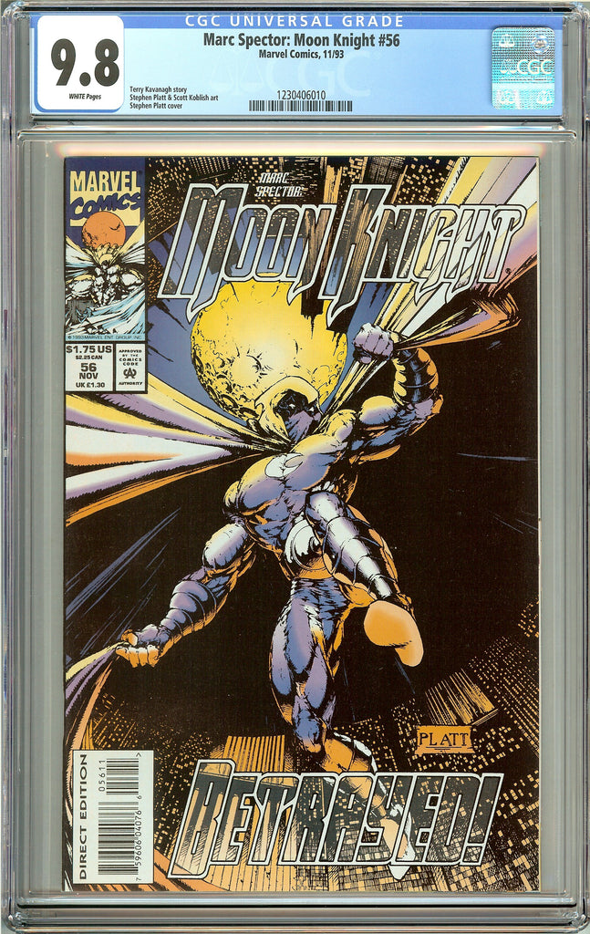 Marc Spector: Moon Knight #56 CGC 9.8 White Pages 1230406010 Stephen Platt