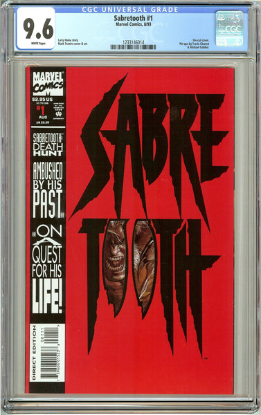 Sabretooth #1 (1993) CGC 9.6 White Pages 1233146014