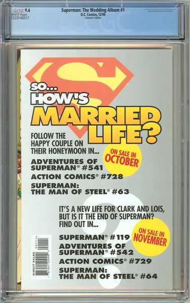 Superman: The Wedding Album #1 (1996) CGC 9.6 White Pages 1233146017