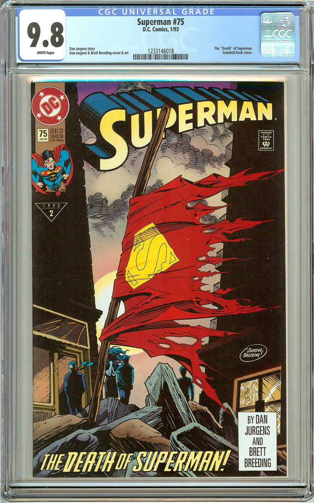 Superman #75 CGC 9.8 White Pages 1233146018 Death of Superman