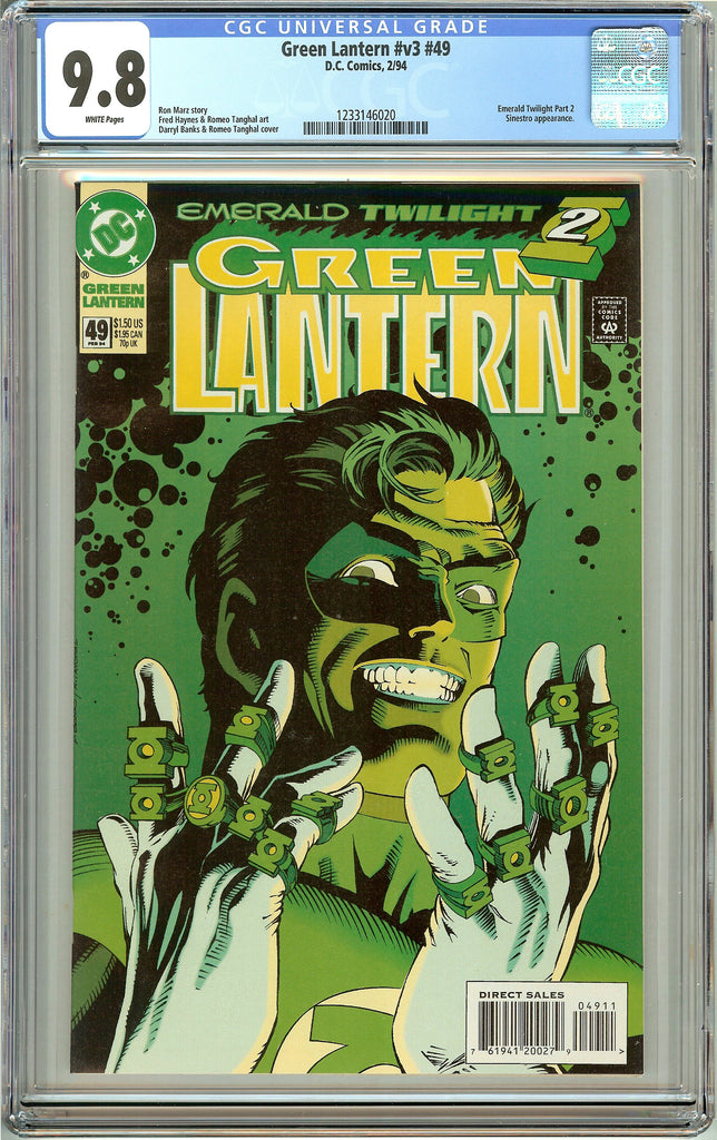 Green Lantern #49 (1994) CGC 9.8 White Pages 1233146020