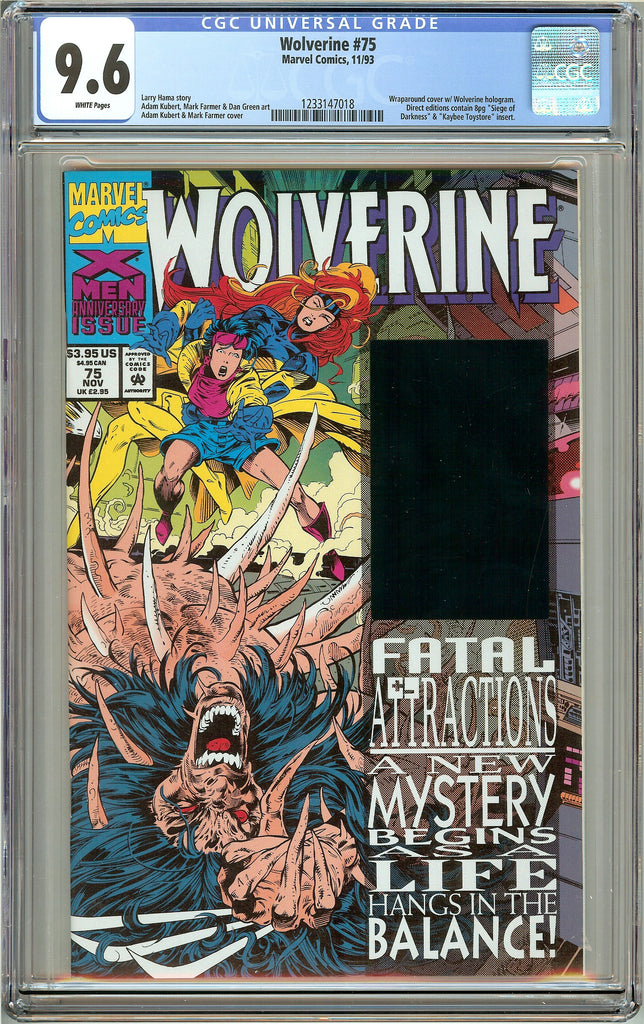 Wolverine #75 (1993) CGC 9.6 White Pages 1233147018