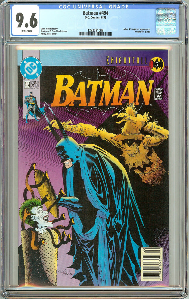 Batman # 494 (1993) CGC 9.6 White Pages 1233781009
