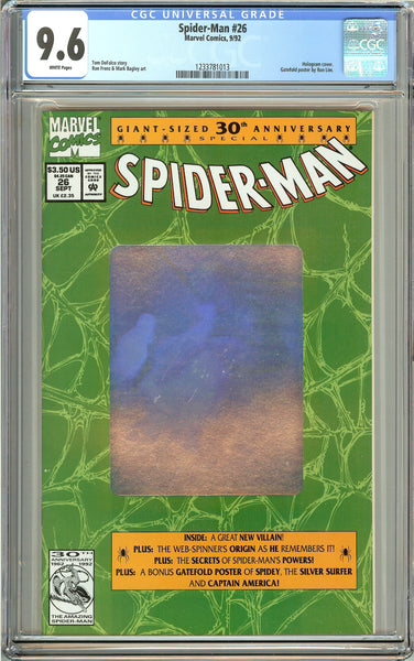 Spider-Man #26 (1992) CGC 9.6 White Pages 1233781013