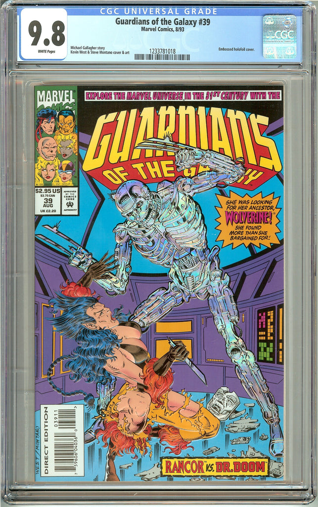 Guardians of the Galaxy #39 (1993) CGC 9.8 White Pages 1233781018