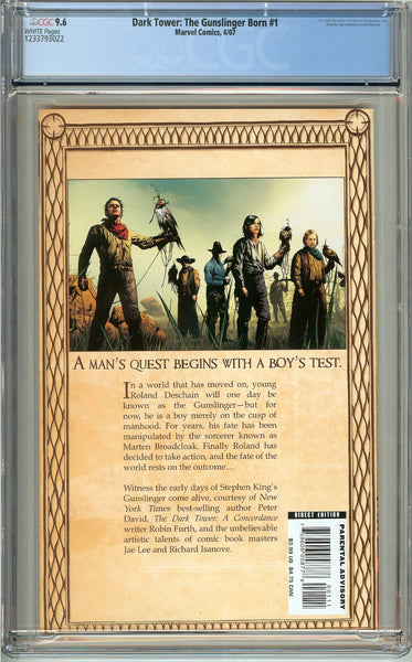 Dark Tower: The Gunslinger Born #1 CGC 9.6 White Pages 1233793022
