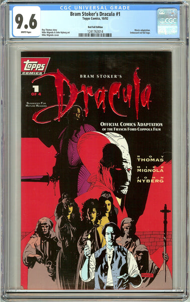 Bram Stoker's Dracula #1 Red Foil ed. (1992) CGC 9.6 White Pages 1241763014