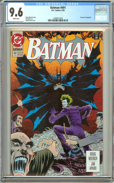 Batman # 491 (1993) CGC 9.6 White Pages 1242011016