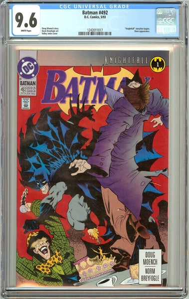 Batman # 492 (1993) CGC 9.6 White Pages 1242011017