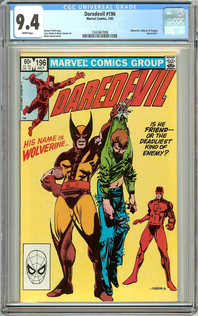 Daredevil #196 (1983) CGC 9.4 White Pages 1242467008