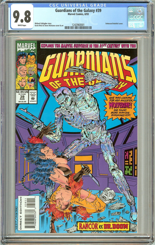Guardians of the Galaxy #39 (1993) CGC 9.8 White Pages 1242960001