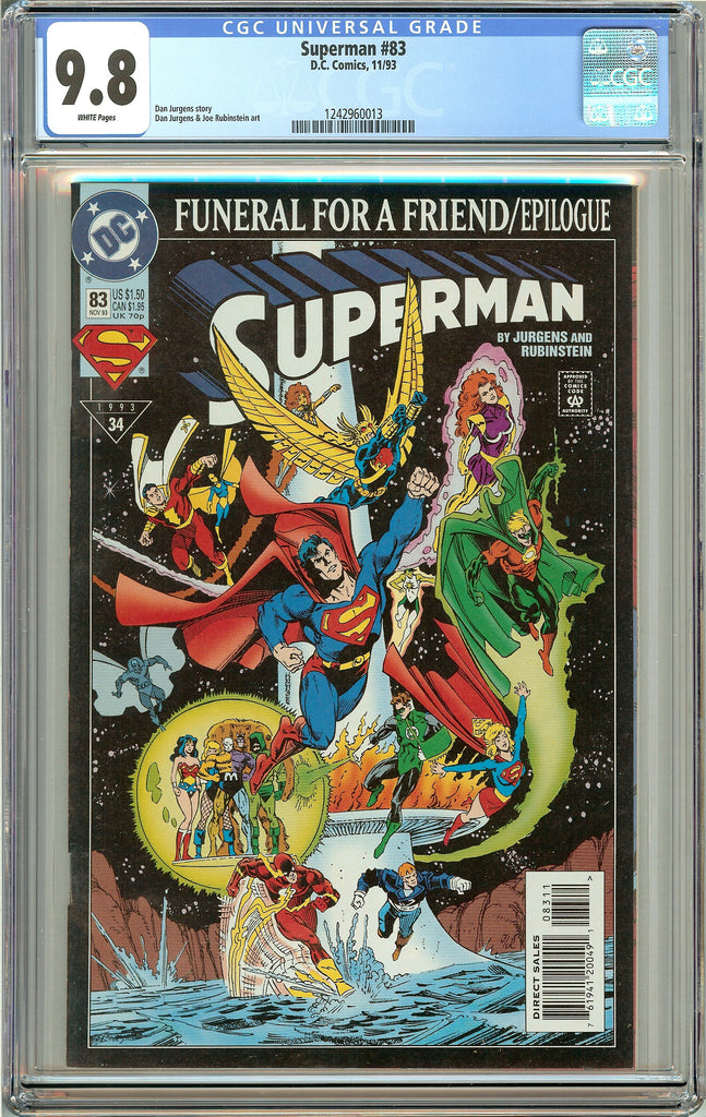 Superman #83 CGC 9.8 White Pages 1242960013