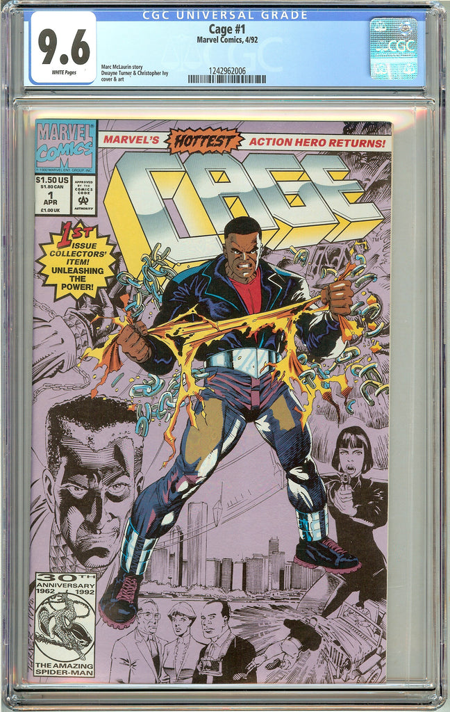 Cage #1 CGC 9.6 WP 1992 1242962006 Luke Cage! Unleashing the Power! Netflix