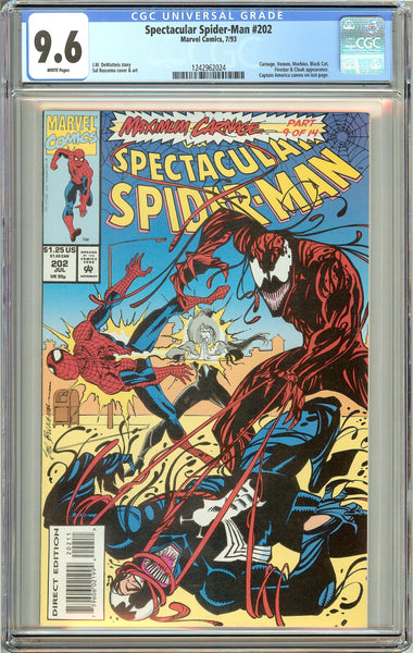 Spectacular Spider-Man #202 (1993) CGC 9.6 White Pages 1242962024