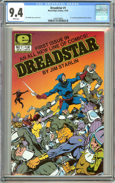 Dreadstar #1 (1982) CGC 9.4 White Pages 1243170020