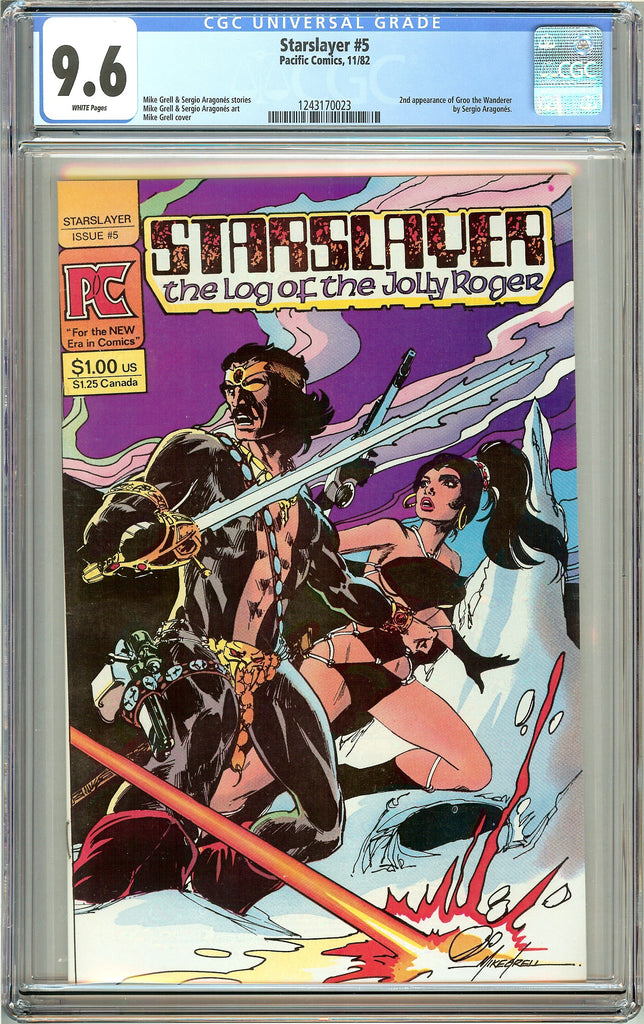 Starslayer #5 (1982) CGC 9.6 White Pages 1243170023 2nd Groo