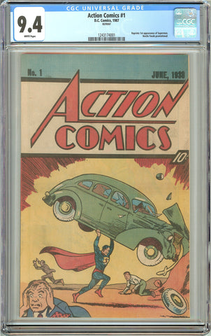 Action Comics #1 (1987) CGC 9.4 White Pages 1243174001 Reprint Nestle
