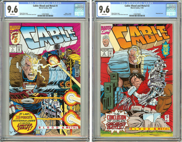 Cable: Blood and Metal #1 & #2 CGC 9.6 White Pages 1250376002-3 Movie