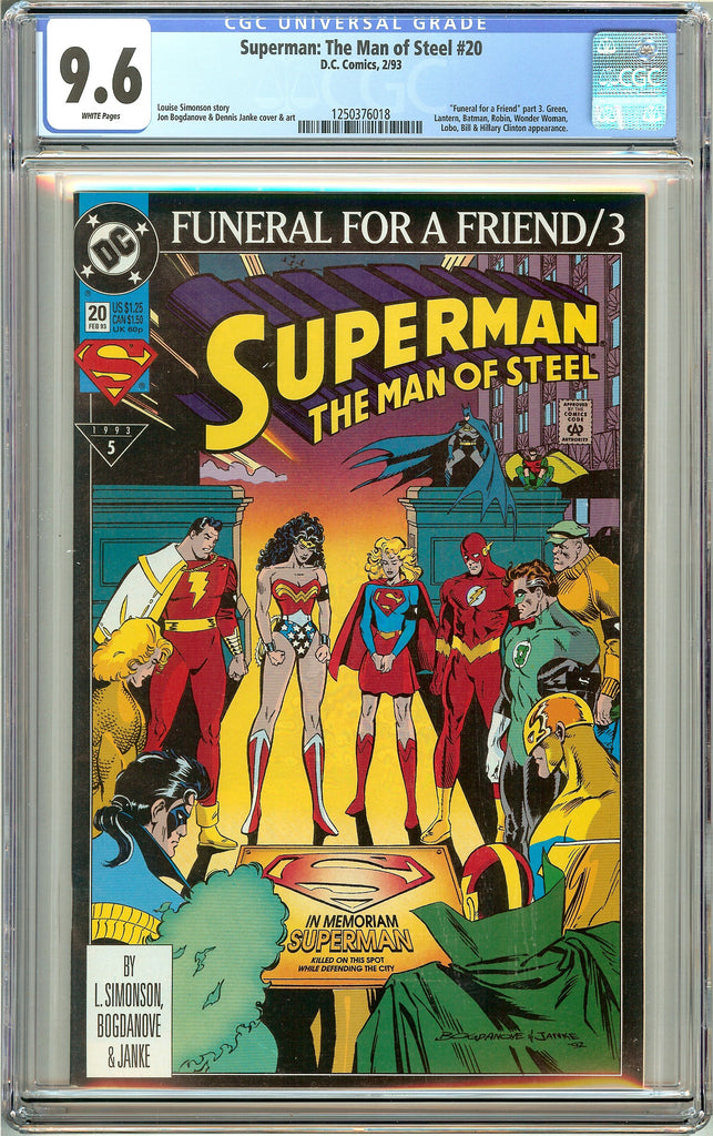 Superman The Man of Steel #20 (1993) CGC 9.6 White Pages 1250376018