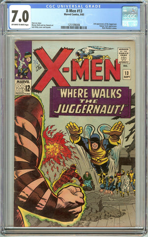 X-Men #13 (1965) CGC 7.0 OW to White Pages 1251096006 2nd Juggernaut