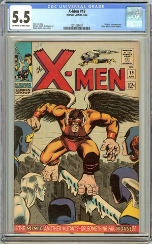 X-Men #19 (1966) CGC 5.5 OW to White Pages 1251096011 1st Mimic