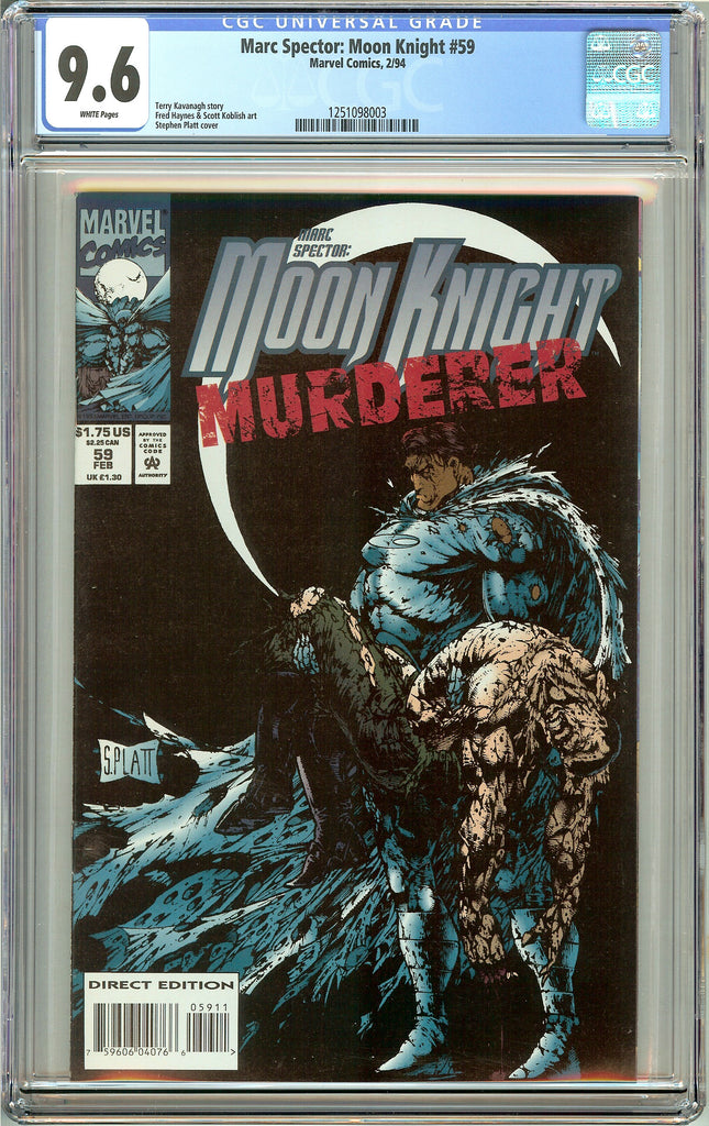 Marc Spector: Moon Knight #59 CGC 9.6 White Pages 1251098003 Stephen Platt