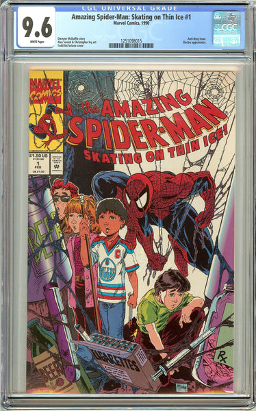 Amazing Spider-Man Skating on Thin Ice #1 CGC 9.6 White Pages 1251098015