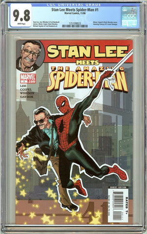 Stan Lee Meets Spider-Man #1 (2006) CGC 9.8 White Pages 1251098023