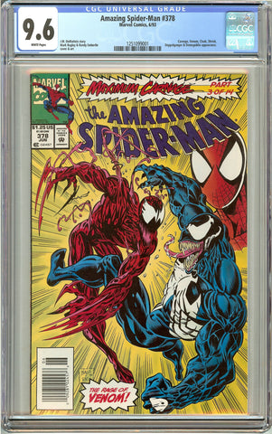 Amazing Spider-Man #378 (1993) CGC 9.6 White Pages 1251099001