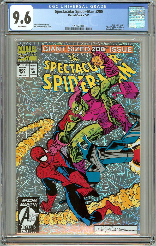Spectacular Spider-Man #200 (1993) CGC 9.6 White Pages 1261665009