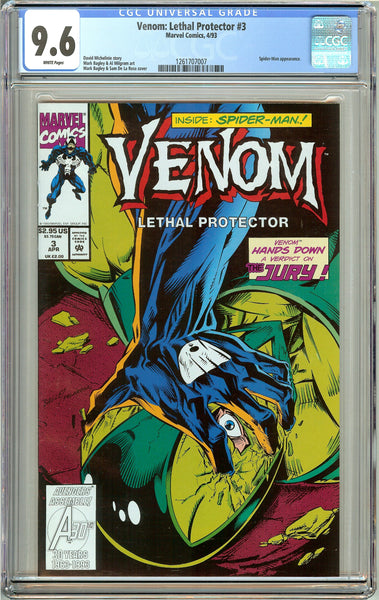 Venom: Lethal Protector #3 CGC 9.6 White Pages 1261707007 Marvel Movie