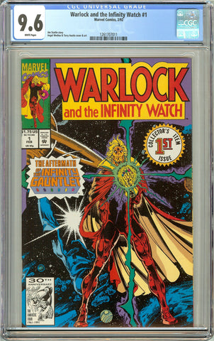 Warlock and the Infinity Watch #1 (1992) CGC 9.6 White Pages 1261707011