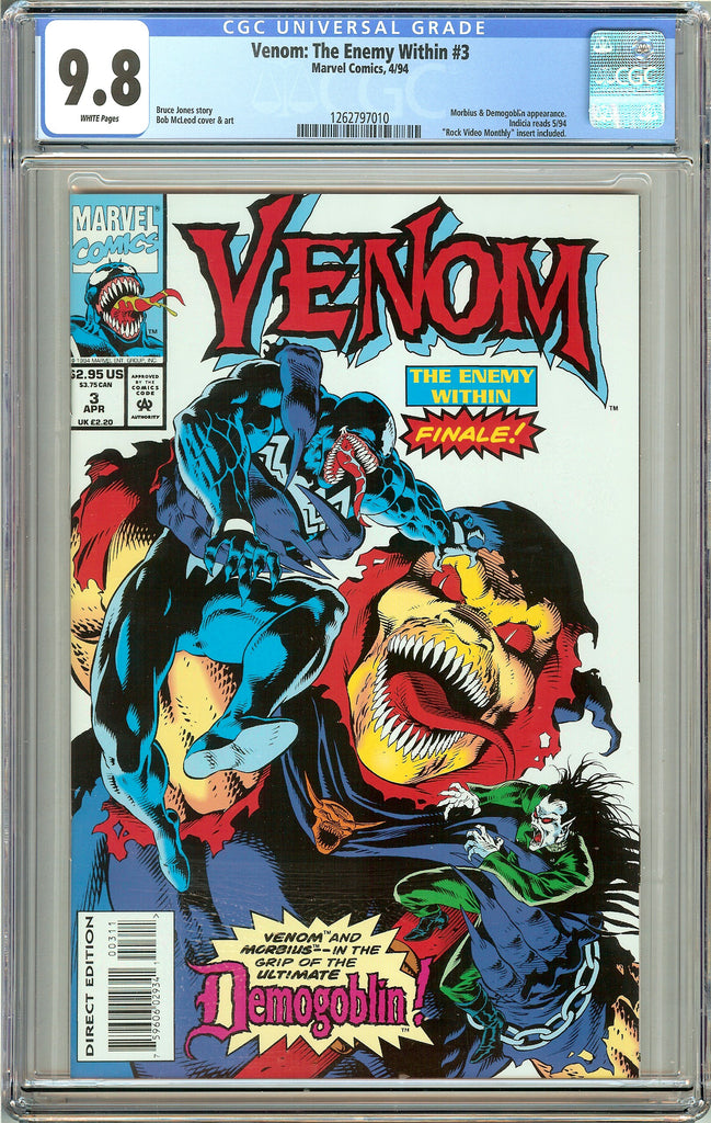 Venom: The Enemy Within #3 CGC 9.8 White Pages 1262797010