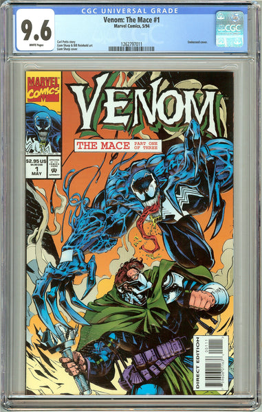 Venom: The Mace #1 CGC 9.6 White Pages 1262797011 Embossed cover