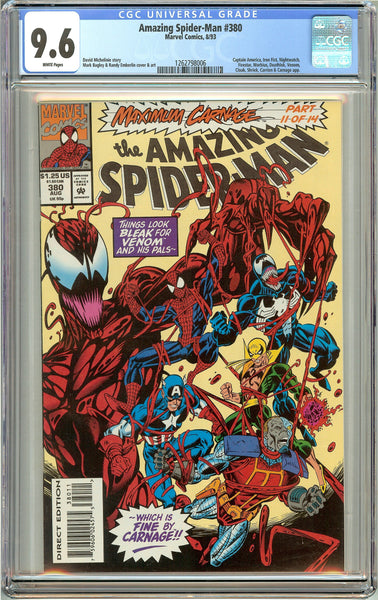 Amazing Spider-Man #380 (1993) CGC 9.6 White Pages 1262798006