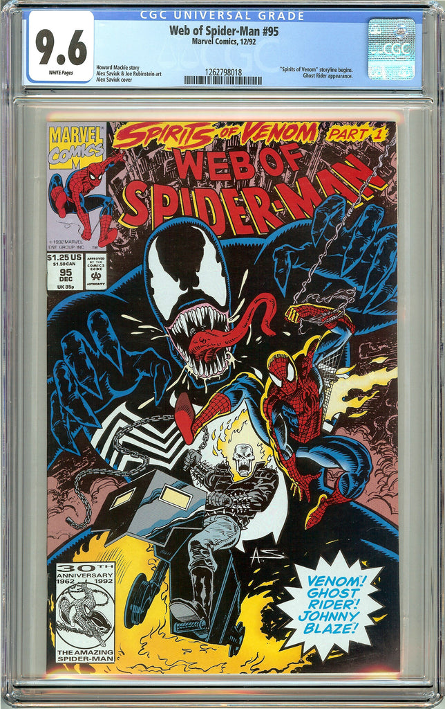 Web of Spider-Man #95 (1992) CGC 9.6 White Pages 1262798018