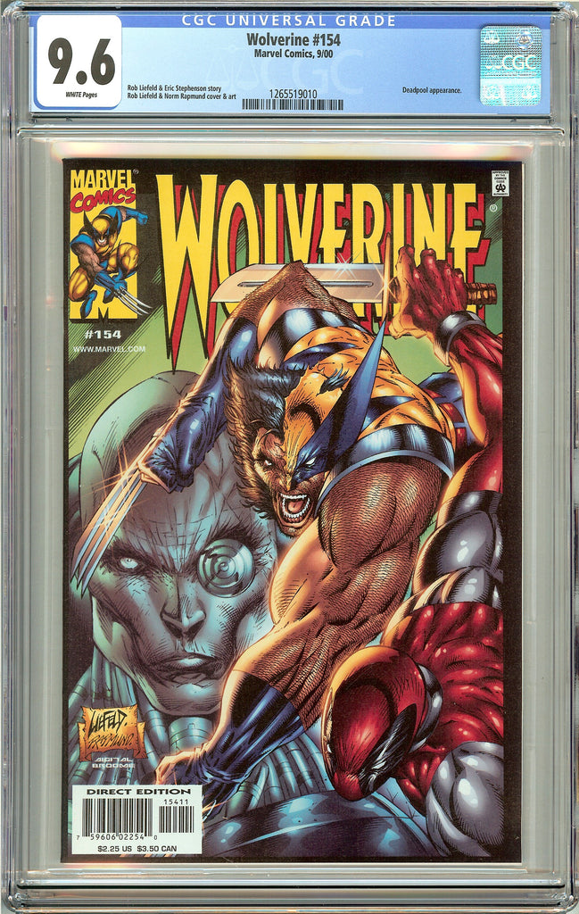 Wolverine #154 (2000) CGC 9.6 White Pages 1265519010 Deadpool