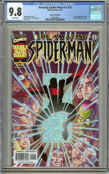 Amazing Spider-Man #v2 #25 (2001) CGC 9.8 White Pages 1265519011