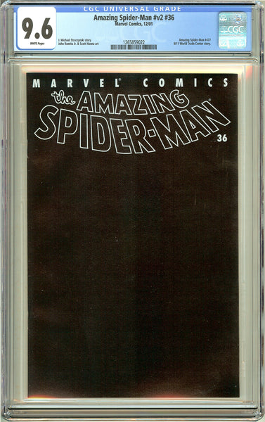 Amazing Spider-Man #v2 #36 (2001) CGC 9.6 White Pages 1265859022