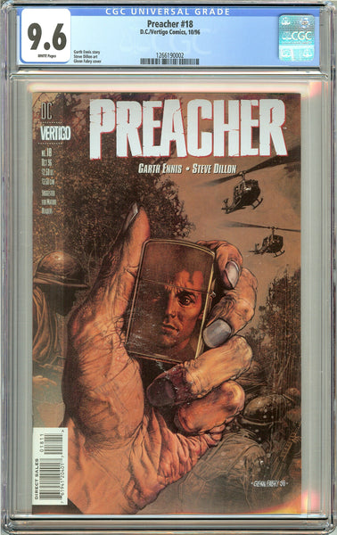 Preacher #18 (1996) CGC 9.6 White Pages 1266190002