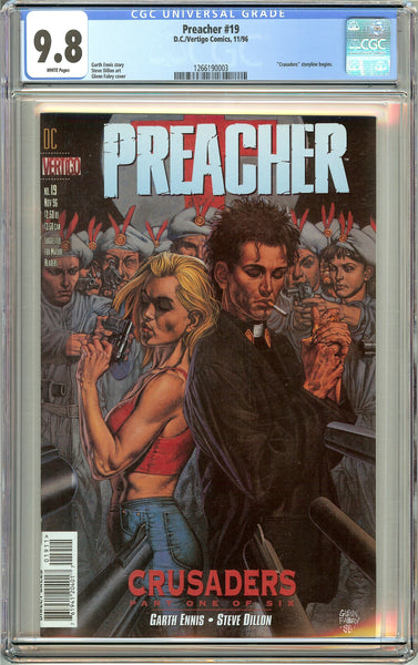 Preacher #19 (1996) CGC 9.8 White Pages 1266190003