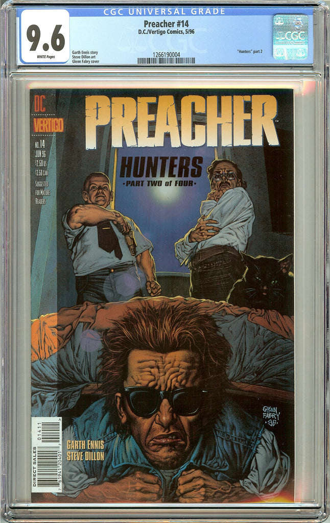 Preacher #14 (1996) CGC 9.6 White Pages 1266190004