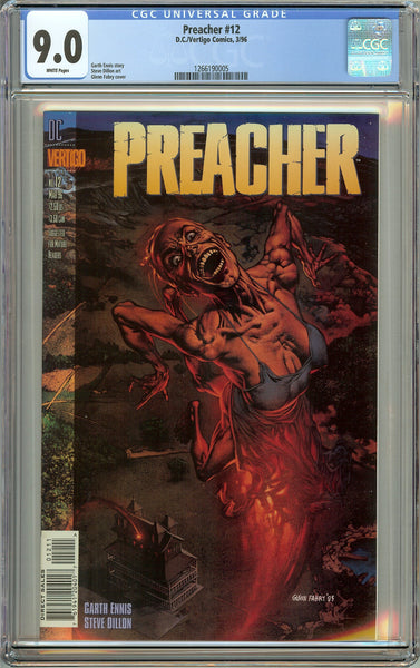 Preacher #12 (1996) CGC 9.0 White Pages 1266190005