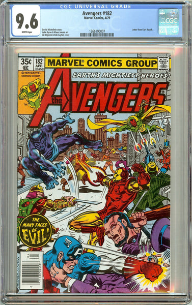 Avengers #182 (1979) CGC 9.6 White Pages 1266190007
