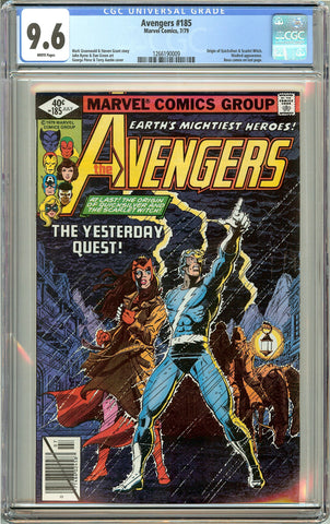 Avengers #185 (1979) CGC 9.6 White Pages 1266190009