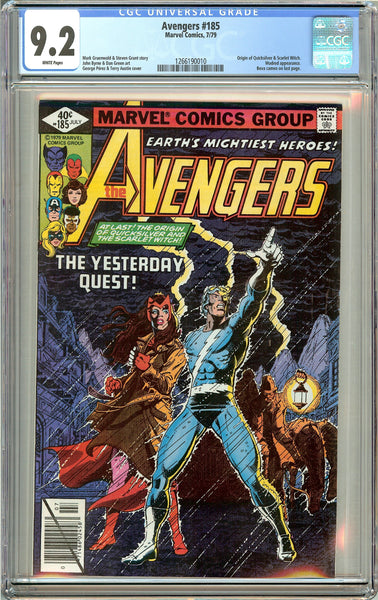 Avengers #185 (1979) CGC 9.2 White Pages 1266190010