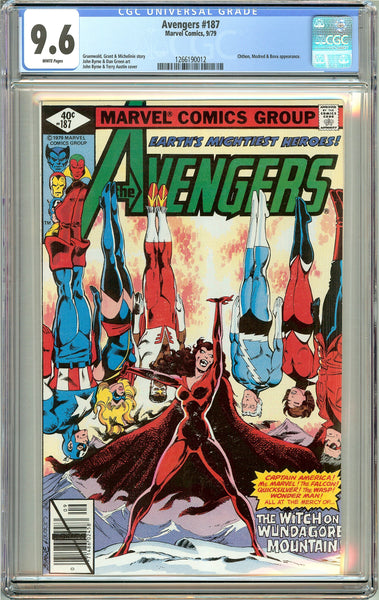 Avengers #187 (1979) CGC 9.6 White Pages 1266190012