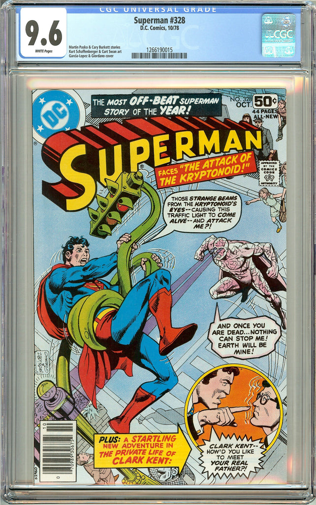 Superman #328 CGC 9.6 White Pages 1266190015 (1978)